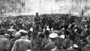 7.23 Lt. Colonel Sir George McCrae raising the 16th Battalion in George Street, Edinburgh, December, 1914