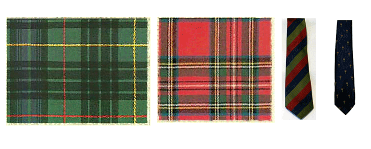 tartan-and-badges